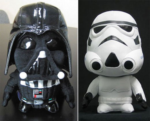 Darth Vader and Clone Trooper Plush