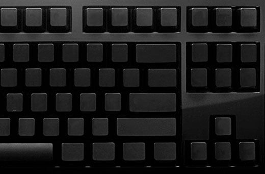 das ultimate keyboard black up close
