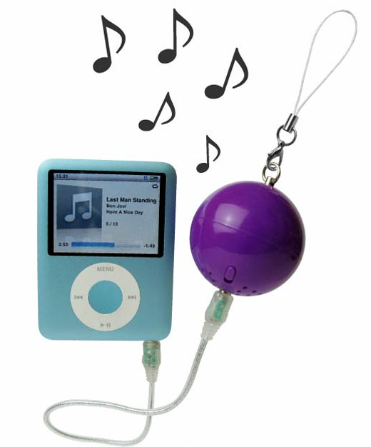 iPod Ball Speaker by ZumReed