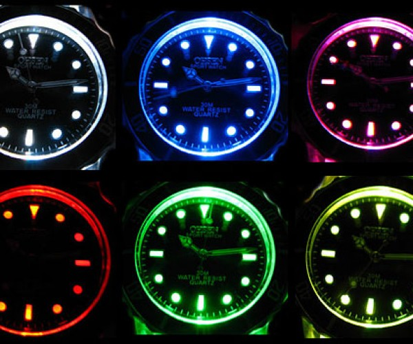 Multi-Color LED Watch for Your Many Moods