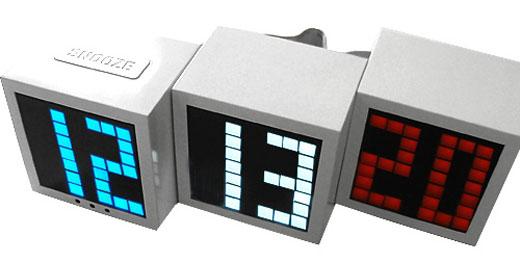 LED Cube Alarm Clock by Seiji
