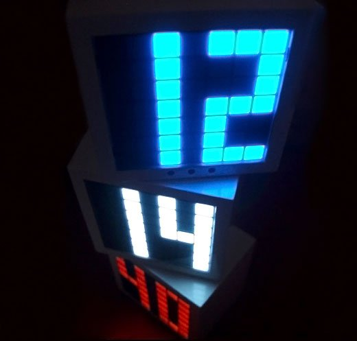 Seiji LED Cube Alarm Clock