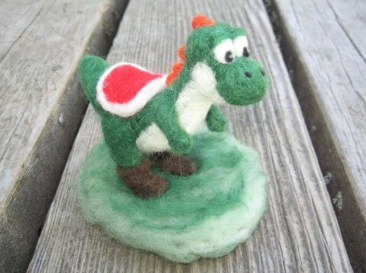 Needle Felted Yoshi by LittleElfsToyshop