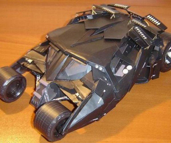Papercraft Batmobile: the Dark Knight Gets His Car Back