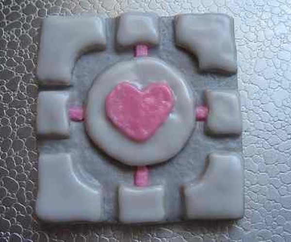 'Portal' Companion Cube Cookies- Obscure but Tasty