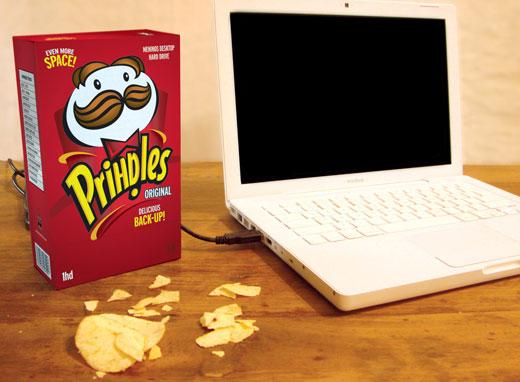 Pringles Hard Drive