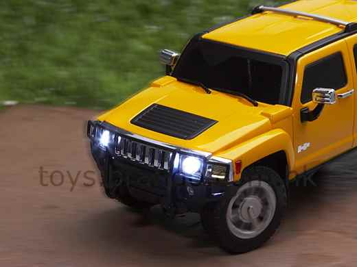 The Hummer itself has rechargeable batteries, but the remote control will