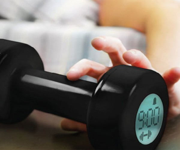 Dumbbell Alarm Clock Forces You to Work Out