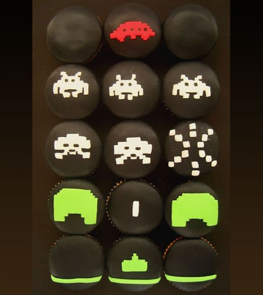 Space Invaders Cupcakes by Hello Naomi