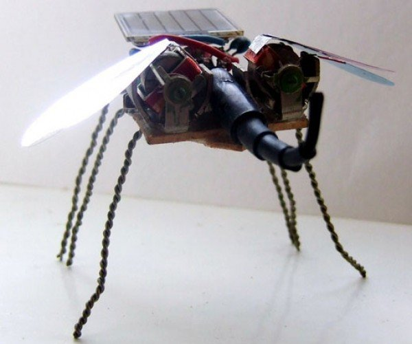 Solar Powered Robotic Bugs on the Attack!