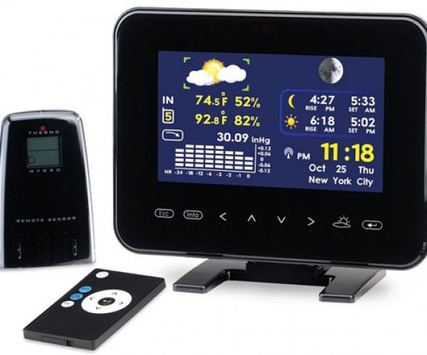 Color LCD Weather Station Doubles as Digital Photo Frame