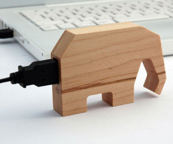New Kids on the Wooden Block: Animal USB Drives