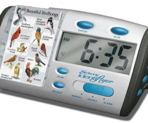 Singing Bird Alarm Clock Wakes You With Bird Calls