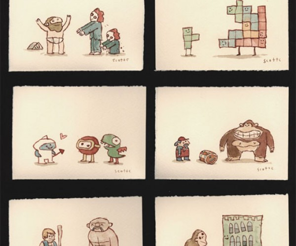 Great Showdowns of the 8-Bit Era [Video Game Art]