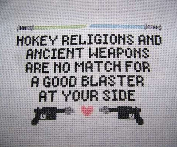 Every Happy Home Needs a Han Solo Cross-Stitch