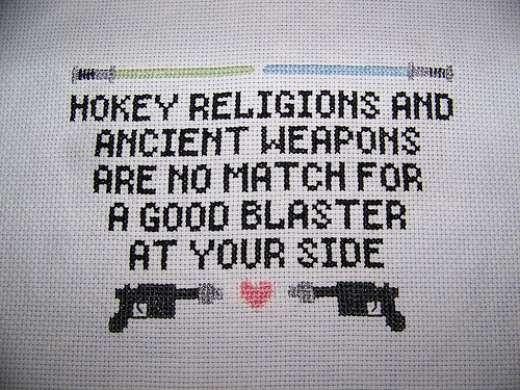 Han Solo Cross Stitch