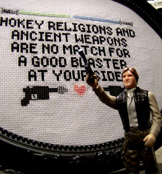 Han Solo Cross Stitch