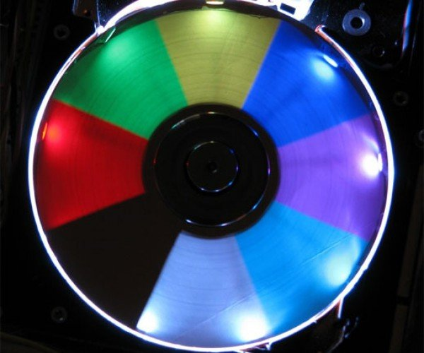 LED Hard Drive Clock Lights Up the Night