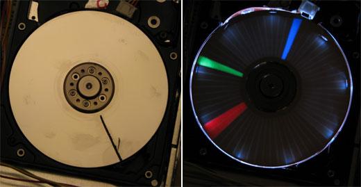 Hard Drive LED Clock by Ian Matthew