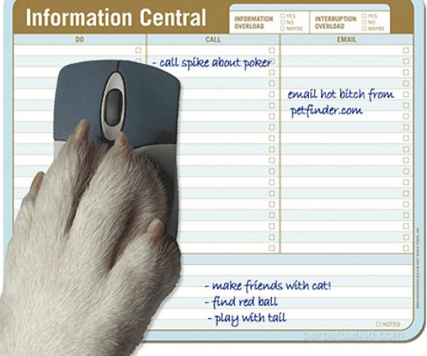 Paper Mouse Pads Keep You Organized, Entertained
