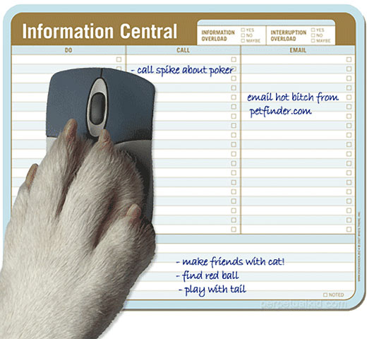 Info Central Paper Mouse Pad