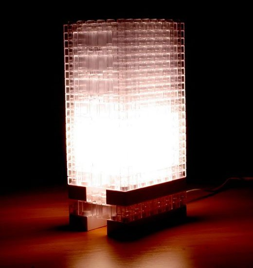 LEGO Building Block Lamp