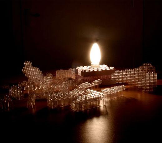 LEGO Building Block Lamp