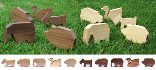 Marubeni USB Wood Animals