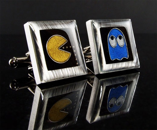 Pac-Man Cufflinks By Sarah Lynne Designs