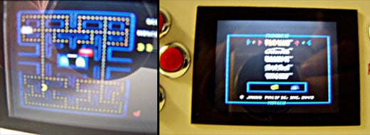 pac man mini screens