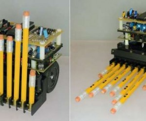This Robot Uses Pencil Erasers as Bumpers