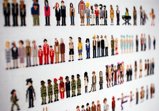 Pixel People Cross Stitch by Rubykhan