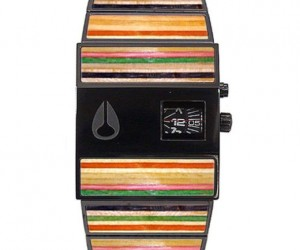 Calling All Sk8r Boys: Nixon Watch With Skateboard Inlays