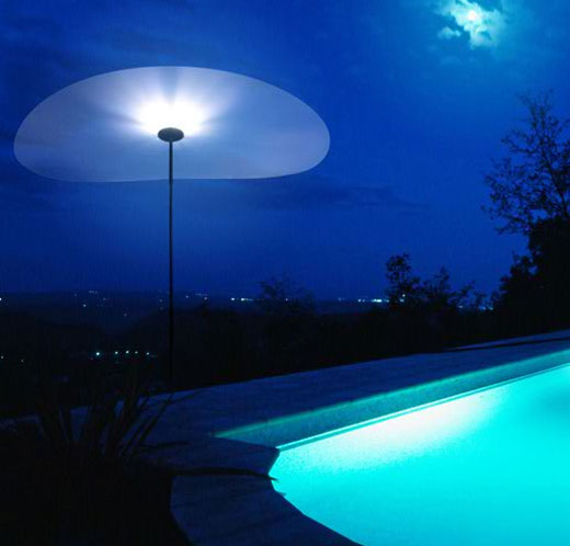 smoon ombrella lamp blue