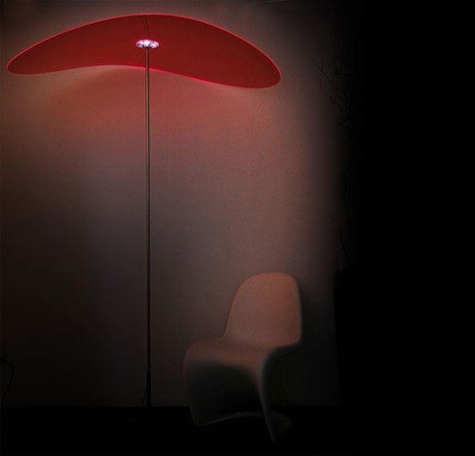 smoon ombrella lamp red