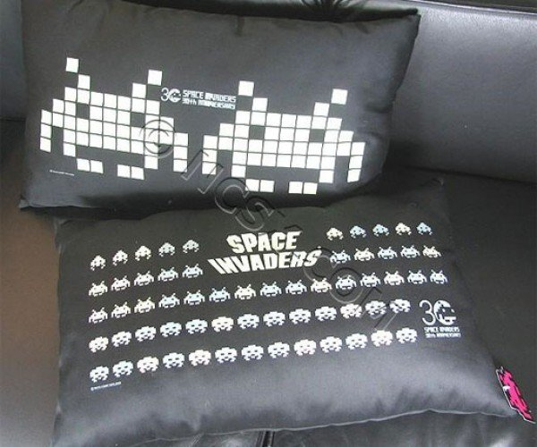 Space Invaders Pillows: Count Aliens, Not Sheep