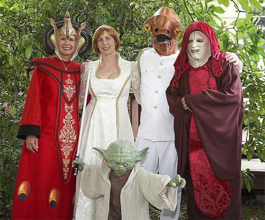 Star Wars Wedding Group Shot