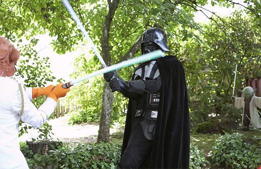 Star Wars Wedding Lightsaber Battle