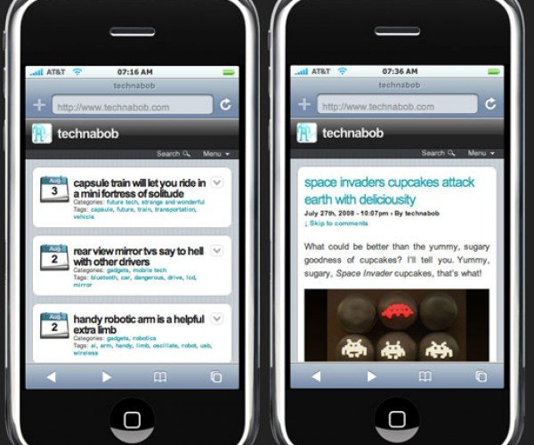 Technabob Gets the iPhone Treatment