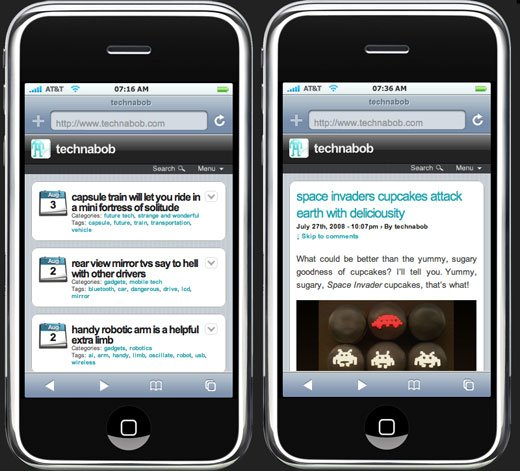 Technabob on iPhone