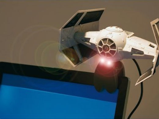 x wing fighter webcam
