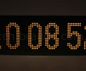 768 LED Clock Laughs in the Face of 7-Segment Displays