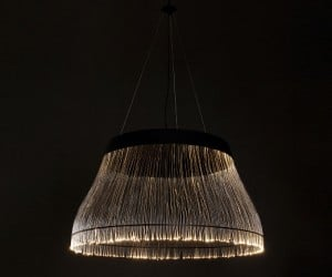 Ceiling Lamp Offers Little Bulk, Plenty of Fiber