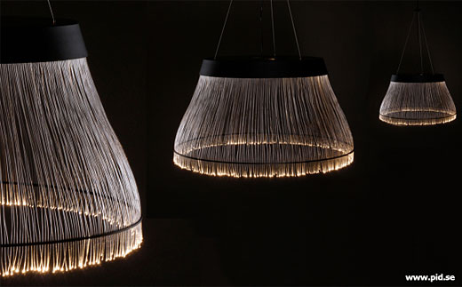 Ceiling lamp offers little bulk plenty of fiber technabob black fiber optic ceiling lamp aloadofball Gallery