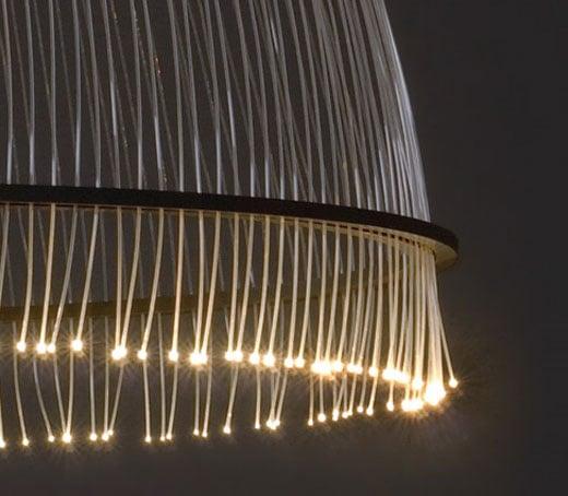 Black Fiber Optic Ceiling Lamp
