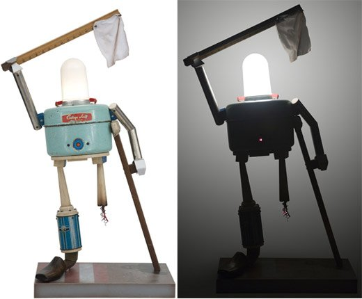 Illuminated Robot Sculptures by Toby Fraley