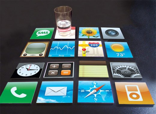 iphone drink coasters