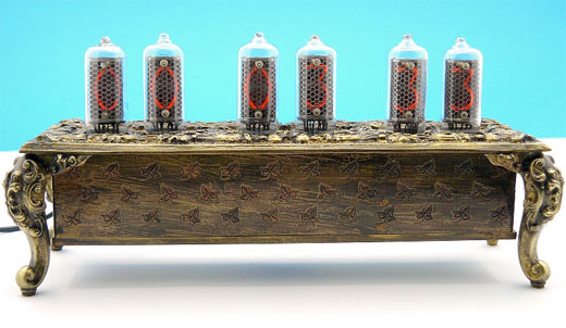 Nixie Tube Baroque Clock