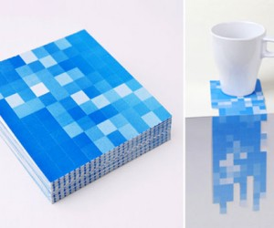 Pixel Drink Coasters: Punch Out Your Own Art