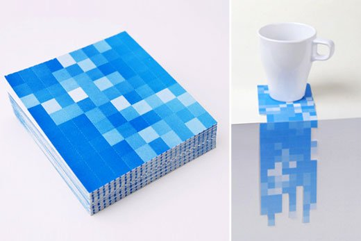 Pixel Coasters by 25togo